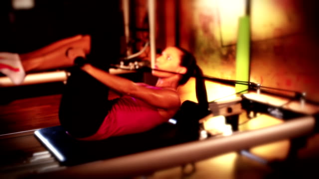women doing pilates - pilates stock videos and b-roll footage