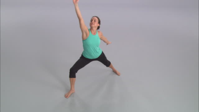 ws women doing yoga on white stage / portland, oregon, usa - pampering self stock videos and b-roll footage