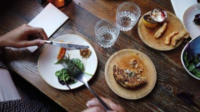 women friend lunch break in a city modern restaurant - croquette stock videos and b-roll footage