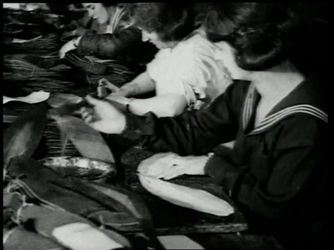 1920 ms women gluing components for footballs - 1920 stock videos & royalty-free footage