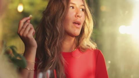 women having italian aperitivo together - elegance stock videos & royalty-free footage