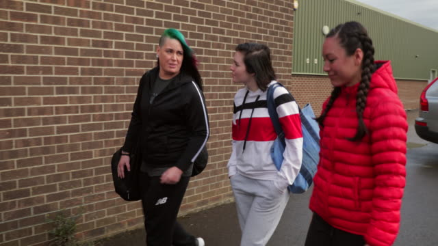 women heading to the gym - darlington north east england stock videos & royalty-free footage