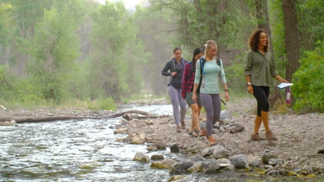 women hikers - utah stock videos & royalty-free footage