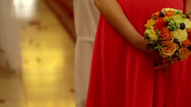 Women holding flowers stock footage