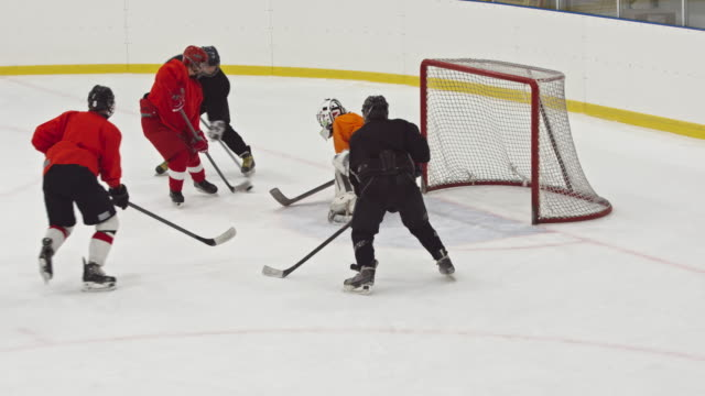 women ice hockey team playing on practice - hockey glove stock videos & royalty-free footage