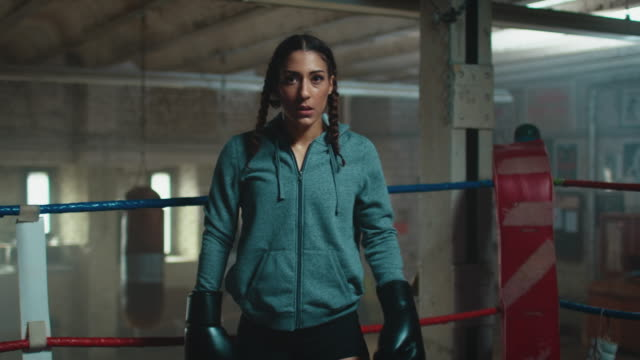 women in boxing ring - glove stock videos & royalty-free footage