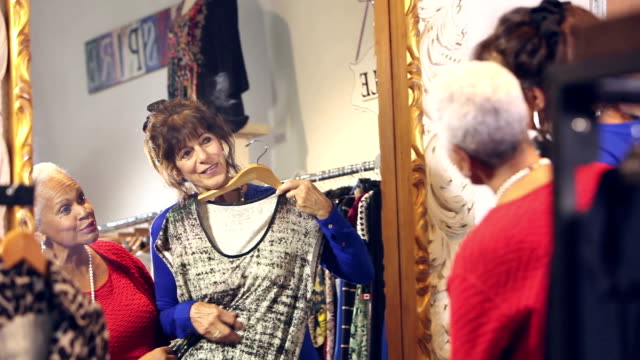 Women in clothing store