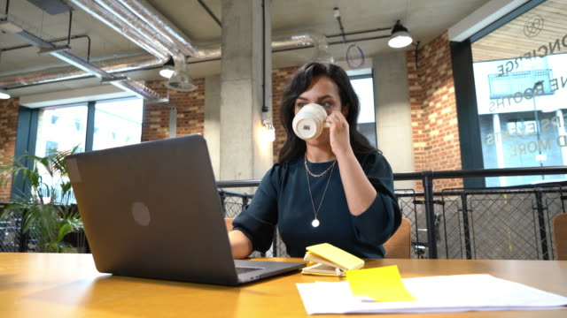 women in empty office using laptop - businesswoman stock videos & royalty-free footage