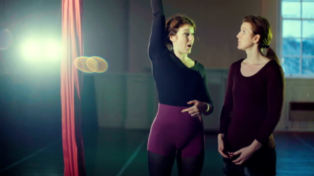 women in gym - leotard stock videos and b-roll footage