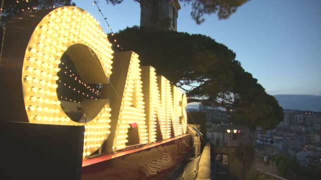 atmosphere 'women in motion' by kering party on may 21 2017 in cannes france - アトモスフィア点の映像素材/bロール