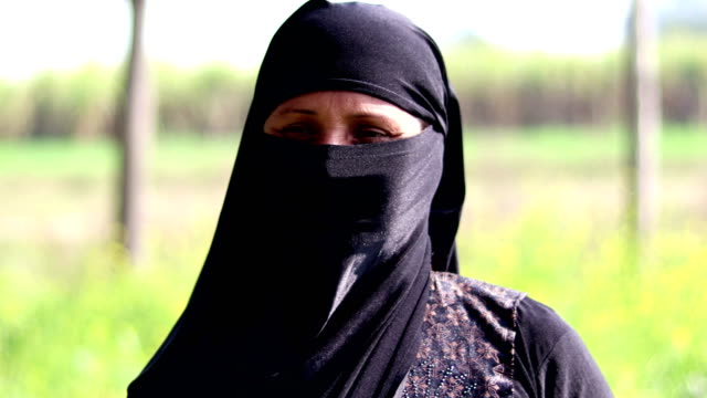 women in religious dress (burka) - religious dress stock videos & royalty-free footage