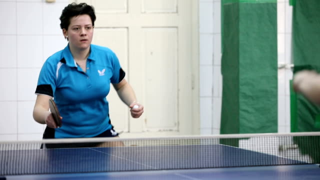 women in table tennis - table tennis stock videos & royalty-free footage