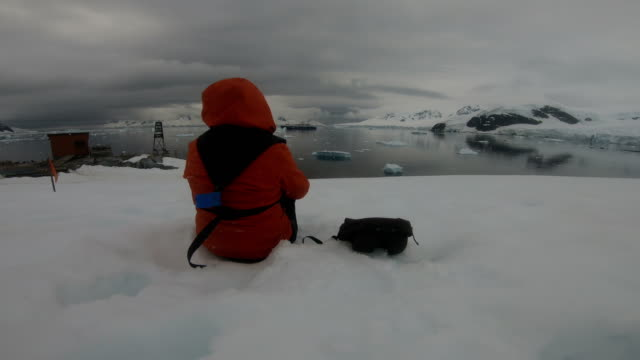women in the ice world, antarctica - antarctica research stock videos & royalty-free footage