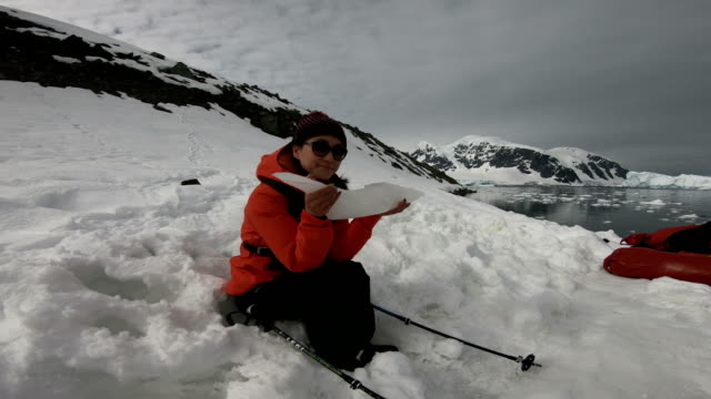 women in the ice world, antarctica - climate research stock videos & royalty-free footage
