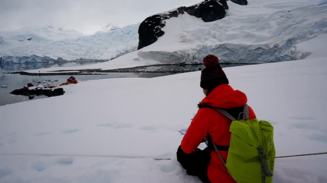 women in the ice world, antarctica - antarctica people stock videos & royalty-free footage