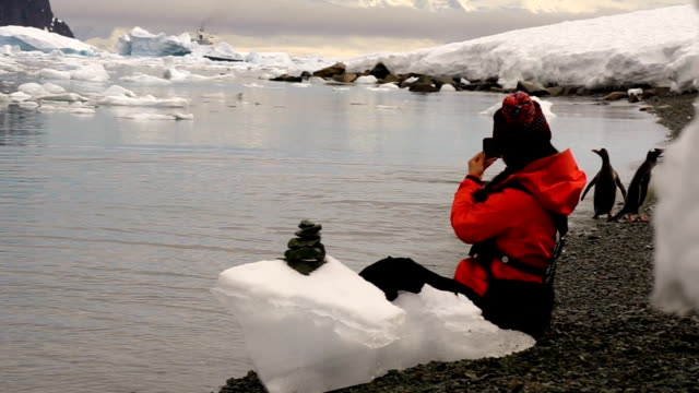 women in the ice world, antarctica - eco tourism stock videos & royalty-free footage