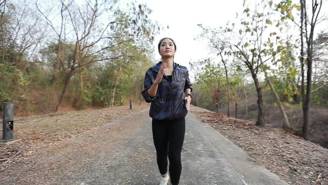 women Jogging and Runners legs. Slow-motion