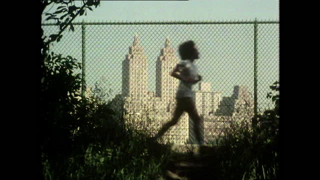 women jogging in the morning in central park, new york city; 1980 - park city stock videos & royalty-free footage