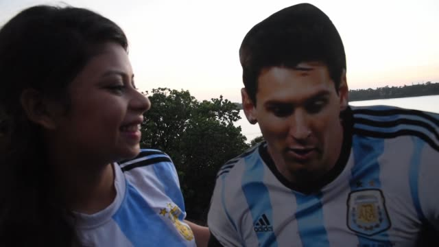 women kiss the figure of lionel messi on the day of his birthday in kolkata india on june 24 2019 - lionel messi stock videos and b-roll footage