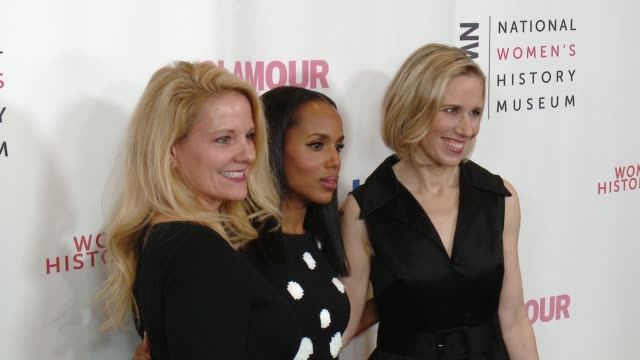 clean women making history awards honoring kerry washington instagram coo marne levine spacex president coo gwynne shotwell at the beverly hilton... - direttrice video stock e b–roll