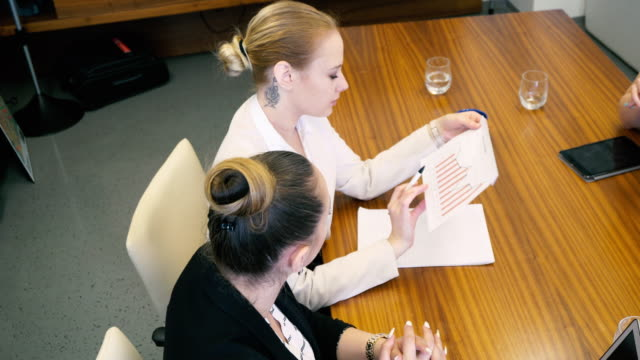 women managers on a meeting with their secretaries - administrator stock videos and b-roll footage