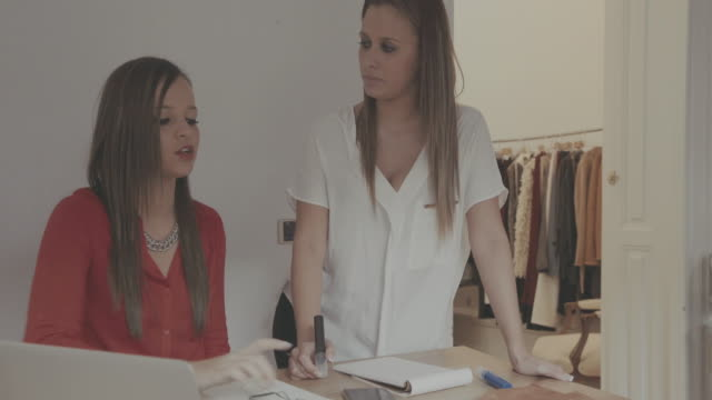 women new business clothes dressmaker startup - clothes shop stock videos & royalty-free footage