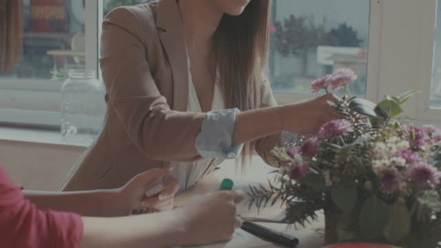 Women new business florist startup