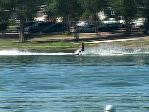 women on waterskies - waterskiing stock videos & royalty-free footage