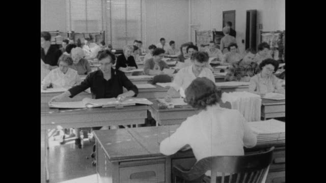 1960 women operations staff and administrators at the census bureau - census stock videos & royalty-free footage