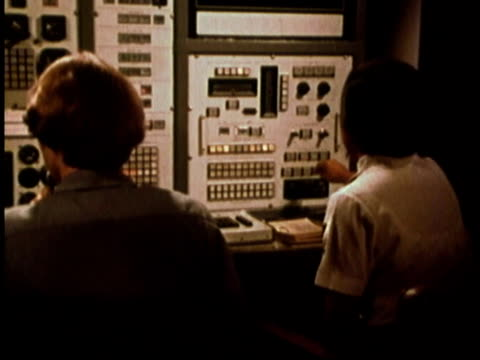 1979 montage women perform tasks on control board of flight simulator / united states - 1979 stock videos & royalty-free footage