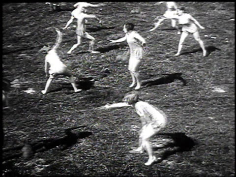 1930 montage women performing gymnastics swinging ball exercises, may 17, 1930 / hanover, germany  - acrobat stock videos & royalty-free footage