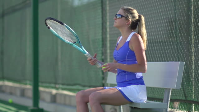 women playing tennis. - slow motion - tennis racquet stock videos & royalty-free footage