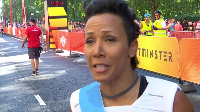 100 women run for equality at British 10k ENGLAND London EXT Dame Kelly Holmes interview SOT