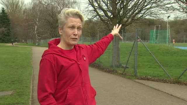 women runners face increasing abuse and harassment; england: birmingham: ext various of people walking and exercising in park sarah mcdonald... - people stock videos & royalty-free footage