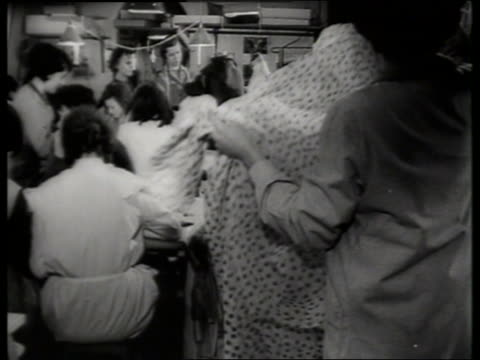 b/w women sewing clothing for fashion designer / sound - sewing stock videos & royalty-free footage