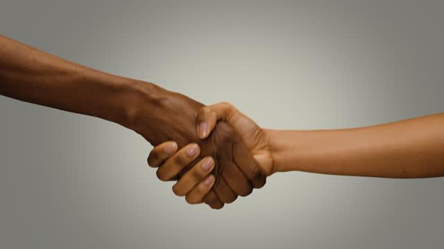 cu women shaking hands - girlfriend stock videos & royalty-free footage