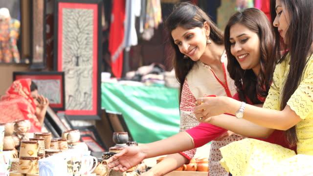 Women shopping for souvenirs