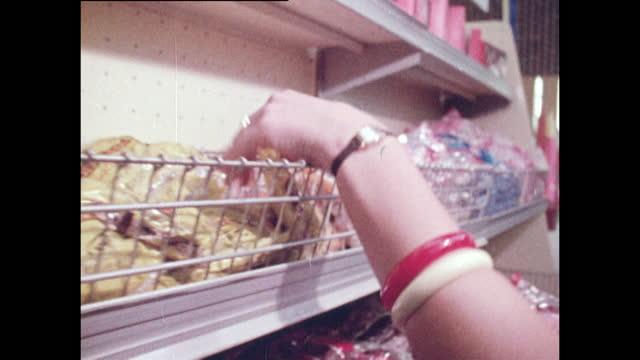 women shopping in an east berlin supermarket; 1970 - groceries stock videos & royalty-free footage