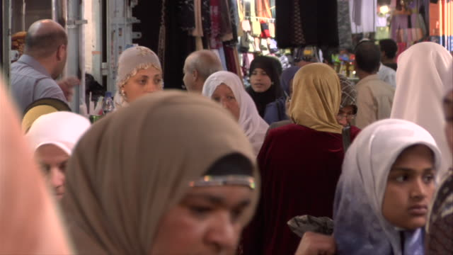 women shopping - hijab stock videos and b-roll footage
