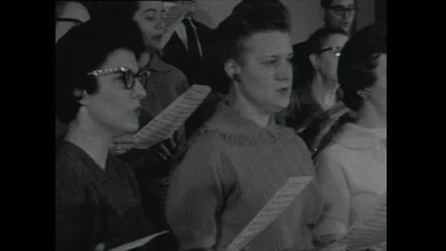 cu women singing in a choir - 1961 stock videos & royalty-free footage