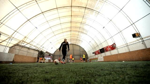 women soccer match in motion - women's football stock videos & royalty-free footage