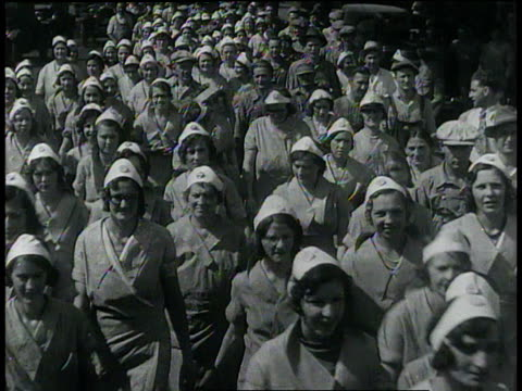 1932 montage women sorting almonds / united states - 1932 stock videos & royalty-free footage