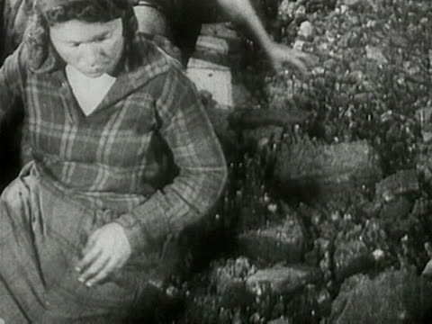 women sorting coal at conveyor - 1920 stock videos & royalty-free footage