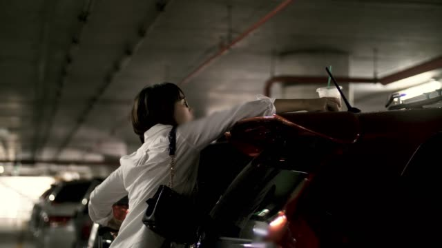 women taking off luggage from the trunk - bagaglio video stock e b–roll