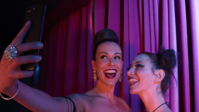 women taking selfie - cabaret stock videos & royalty-free footage