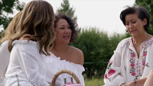 women talking - ウィルトシャー州点の映像素材/bロール