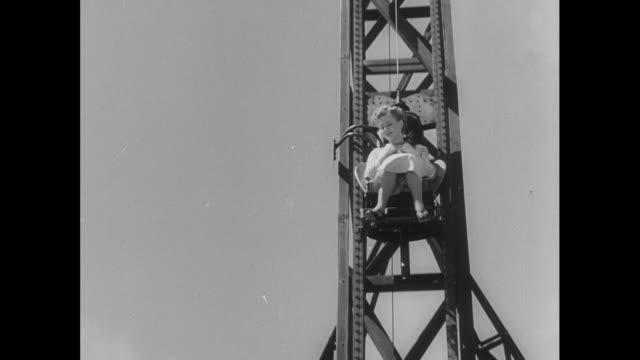 women tests jet plane ejector seat; 1952 - vehicle seat stock videos & royalty-free footage