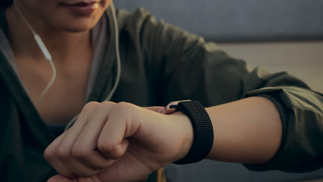 women touch smart watch and together warming up before and after exercising stretch at the bridge in the city during the morning traffic - suspension bridge stock videos & royalty-free footage