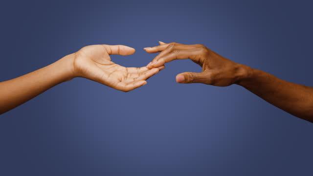 cu women touching fingers - desire stock videos & royalty-free footage