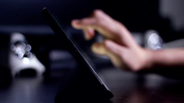 Women use digital tablet